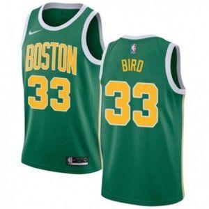 Boston Celtics Larry Bird Green Jersey